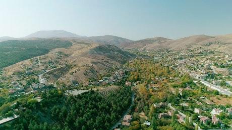 Beautiful town scenery