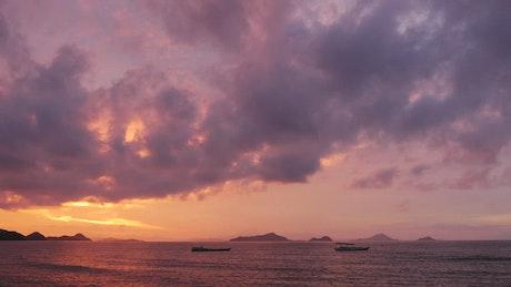 Beautiful twilight at the sea