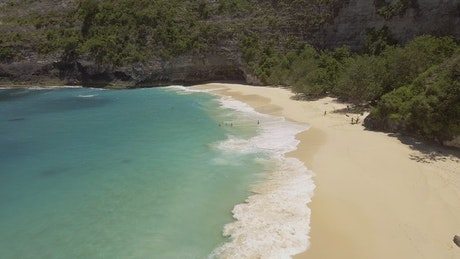 Beautiful unspoilt beach, aerial view