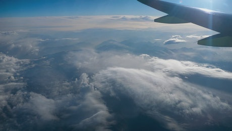 Beautiful View Through Airplane Window