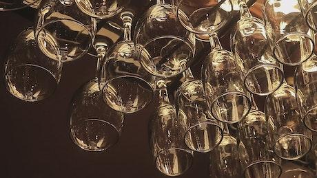 Beer glasses hanging