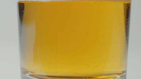 Beer in a glass closeup