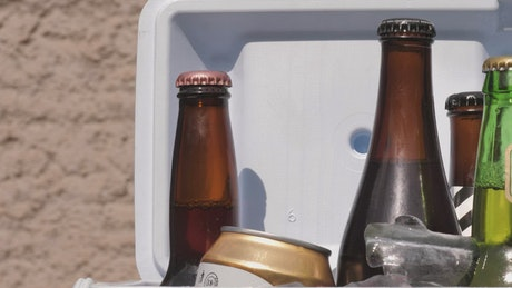 Beers in a small cooler