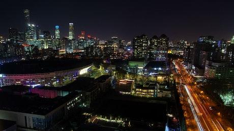 Beijing cityscape at night