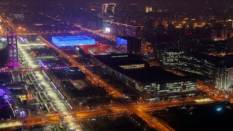 Beijing convetion center at night