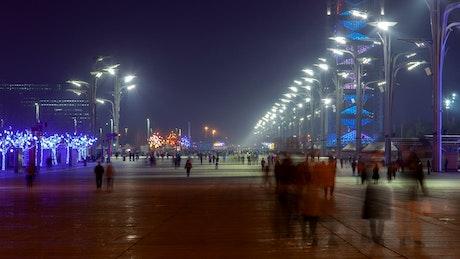 Beijing walking street at night