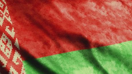 Belarus faded waving flag, 3D