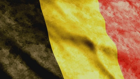 Belgium faded flag, 3D render animation