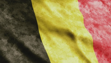 Belgium flag, animation