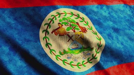 Belize flag, 3D animation