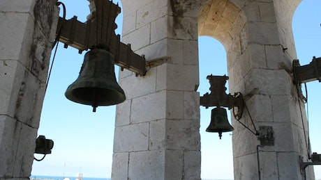 Bells at the top of a tower