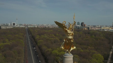 Berlin from the victory column at the top