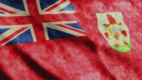 Bermuda faded flag, 3D