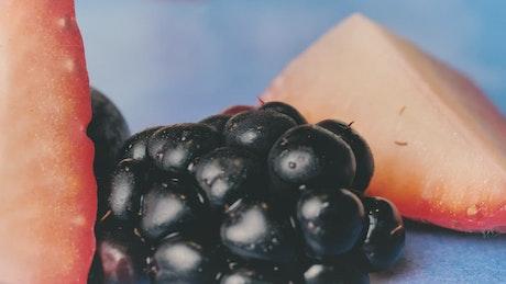 Berries and strawberries