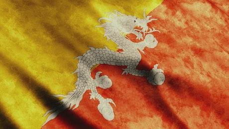 Bhutan flag, 3D render