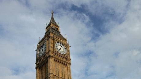 Big Ben clock time lapse