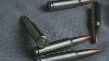 Big bullets over a fabric