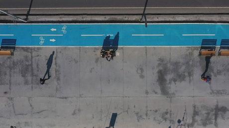 Bike lane next to a highway