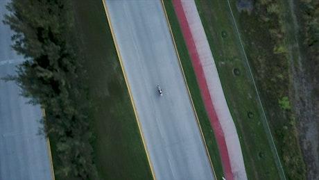 Biker on a highway