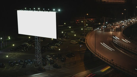 Billboard by a highway
