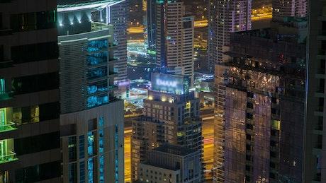 Billboard in the top of a building in Dubai