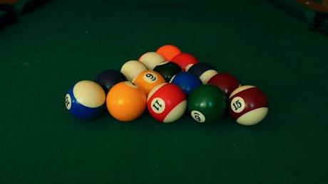 Billiard balls getting hit