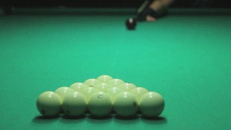 Billiard opening shot