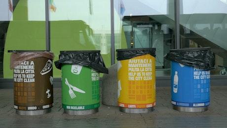 Bins for plastic waste