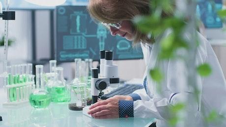 Bio Chemist working in her lab