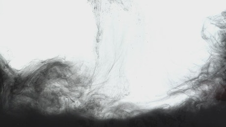 Black ink underwater moving slowly, background