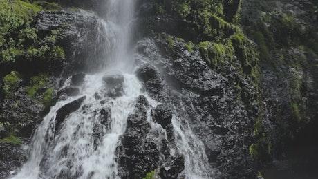 Black rocks waterfall