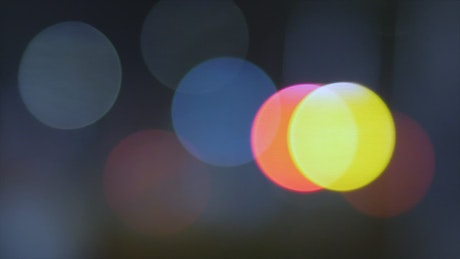 Blinking round lights with bokeh effect