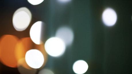 Blinking white and orange lights