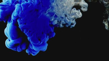 Blue and grey liquid