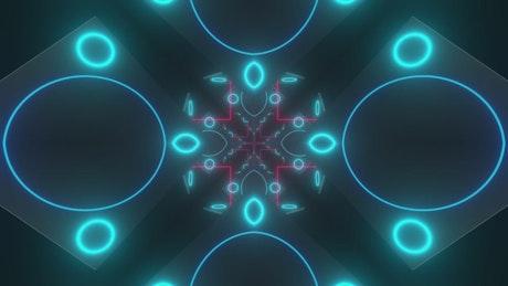 Blue and pink neon lights, Vj loop