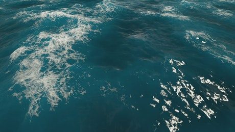 Blue surface of sea water in motion