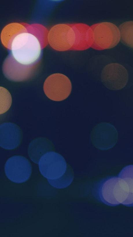 Blurred multicolor lights bokeh