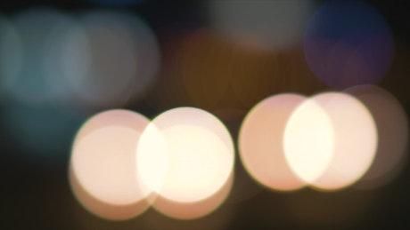 Blurred yellow lights