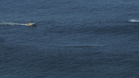 Boat in the open sea