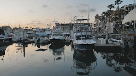 Boats and yachts at a dock