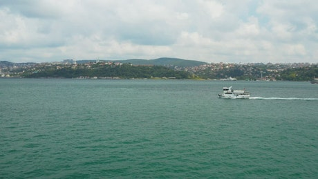 Boats heading towards Istanbul