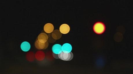 Bokeh effect and traffic lights