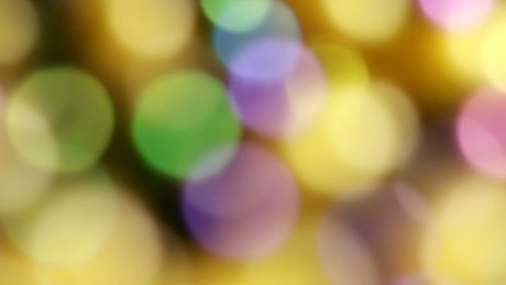 Bokeh effect with yellow and green