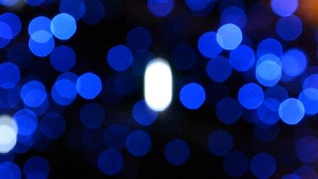 Bokeh in blue tones