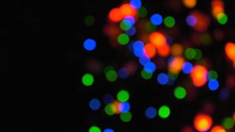 Bokeh of Christmas tree lights