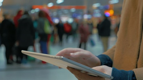 Booking train tickets on a tablet PC