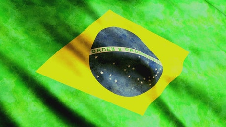 Brazilian flag gently waving