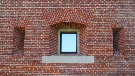 Brick wall and a window