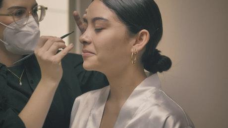 Bride's makeup by a professional makeup artist