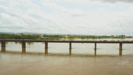 Bridge across a river in Africa